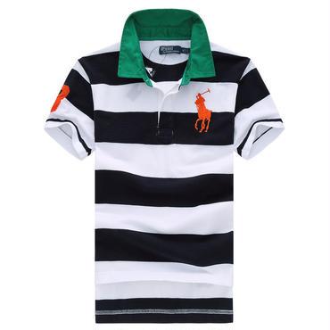 ポロラルフローレン/polo ralph lauren新作 ポロシャツ ストライプ 多色選択