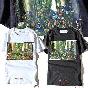 新入荷 夏物 男女サイズ 男女兼用 tシャツ オフホワイト EWDT010