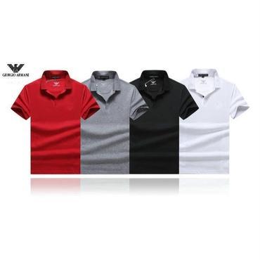 超人気アルマーニ 4色半袖ポロシャツ 夏物025