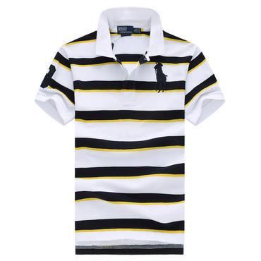 ポロラルフローレン/polo ralph lauren ストライプ 半袖ポロシャツ 夏物