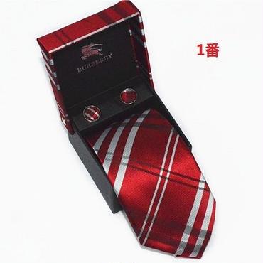 新入荷 バーバリー ネクタイ 人気美品 4色選択 ECLD005