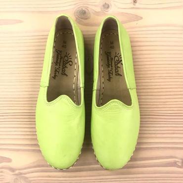 Sabah  (サバ)SLIP-ON smooth leather  LOS HARMANOS LIME