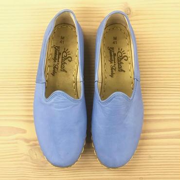 Sabah  (サバ)SLIP-ON smooth leather BARBADOS BLUE