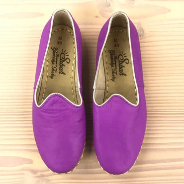 Sabah  (サバ)SLIP-ON smooth leather MAGENTA