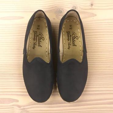 Sabah  (サバ)SLIP-ON nubuck leather BALEEN BLUE
