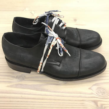Esquivel Shoes × Nick Fouquet  Distressed Black Leather with Drawings US9.5