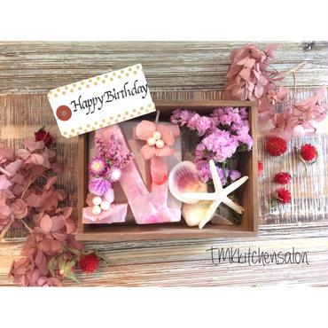 イニシャルキャンドル&flower