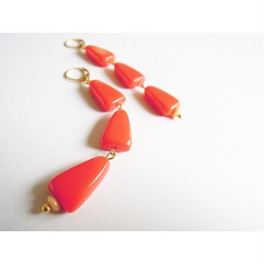 ブラッドオレンジのフレンチフックピアス