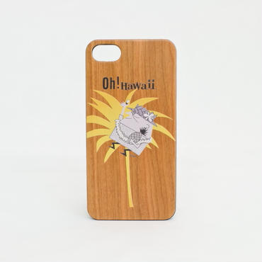 "柳原良平""OH!Hawaii"" wood iPhone7 case"