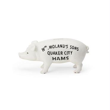 "Hams Standing Pig Bank ""White"""