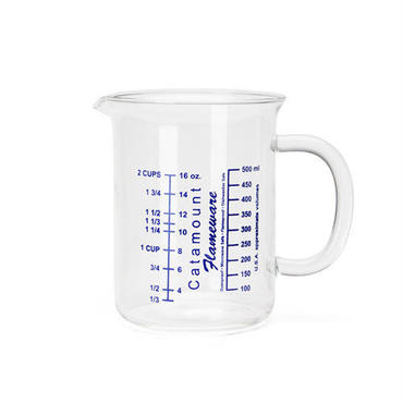 "Glass Handle Measuring Cups ""2Cup"""