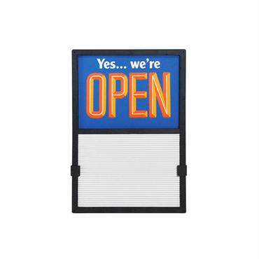 Vertical Open / Closed Slider Sign  blue×orange