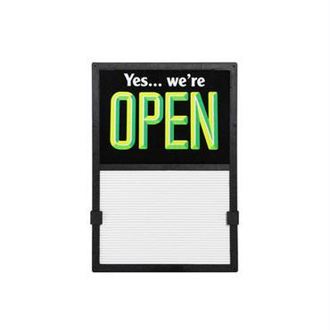 Vertical Open / Closed Slider Sign black×green