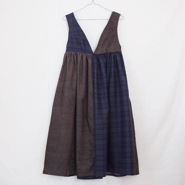 ジャンパースカート(カーキ×チェック)