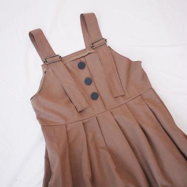 ジャンパースカート(ブラウン)