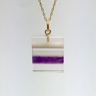 bisoa 縞々NECKLACE PURPLE