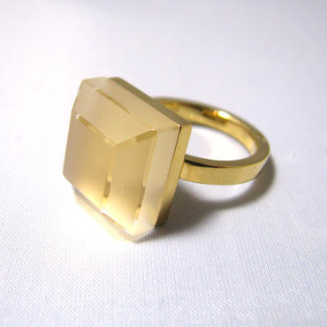 118 Matte&Clear Ring Square