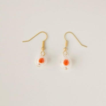 Earring sphere orange (MG)