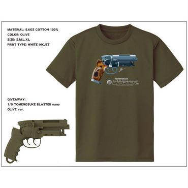 Tomenosuke Blaster T-shirt + nano (olive)