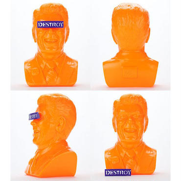Orange Gipper Reagan Bust by Frank Kozik