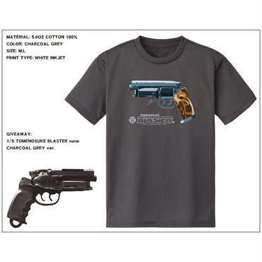 NEW Tomenosuke Blaster T-shirt + nano  (charcoal grey)