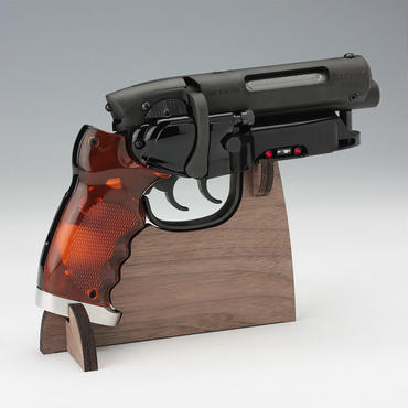 Tomenosuke Blaster Walnut-veneer Display Stand