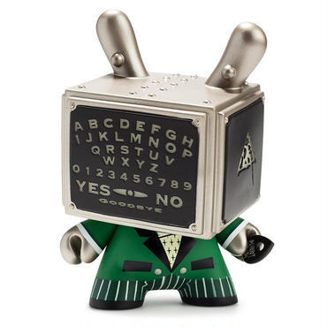 "Talking Board Green GID 5"" Dunny by Doktor A (AP)"