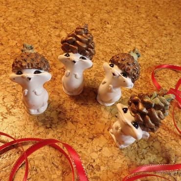White Xmas Mini Seedlings by Lyla Warren
