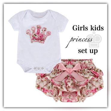 Girls kids・crownセットアップ