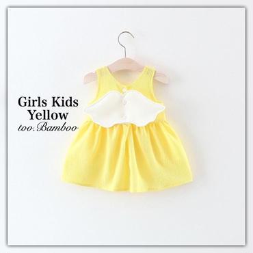 Girlskids*angelwingワンピース*Yellow