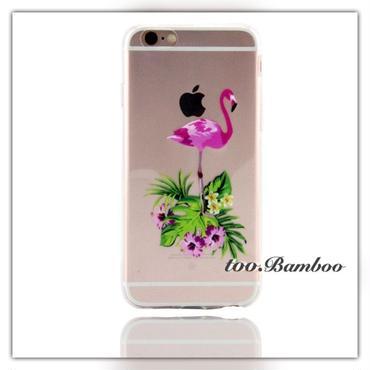 iPhone7*クリアflamingoケース