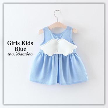 Girlskids*angelwingワンピース*Blue