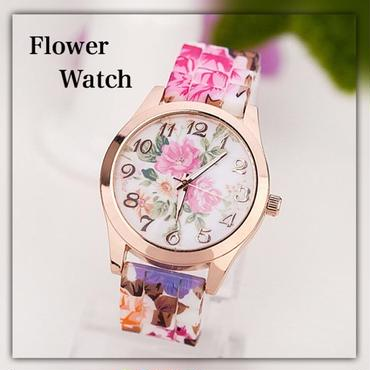 siliconeプリントflower watch