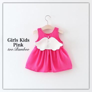 Girlskids*angelwingワンピース*Pink