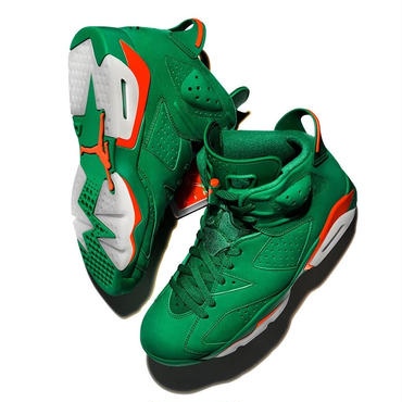 NIKE AIR JORDAN 6 RETRO NRG G8RD PINE GREEN/PINE GREEN-ORANGE BLAZE