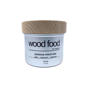 天然艶出し蜜蝋ワックス『wood food』-ヒノキ