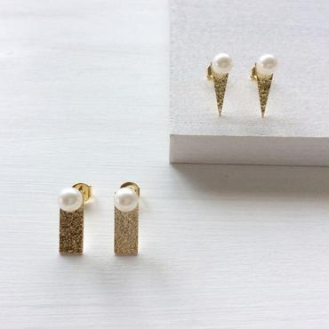 淡水真珠:pearl×plate pierce