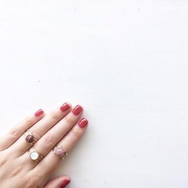 天然石:stone×brass ring