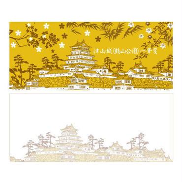 在りし日の津山城一筆箋 横型
