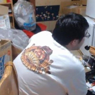 「よっさんTシャツ」  バックプリントバージョン!(除菌消臭済み!)