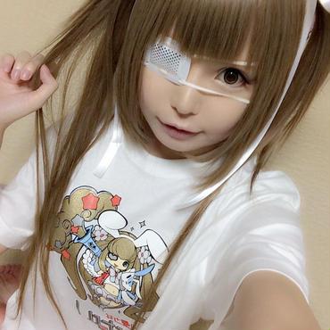 「火星少女ひなり」  第一弾Tシャツ+ステッカーのセット!  ホワイトバージョン!