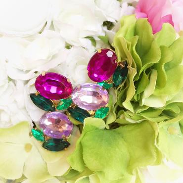 梅雨限定!7月までhydrangea bijou pierce♡紫陽花のビジューピアス♡