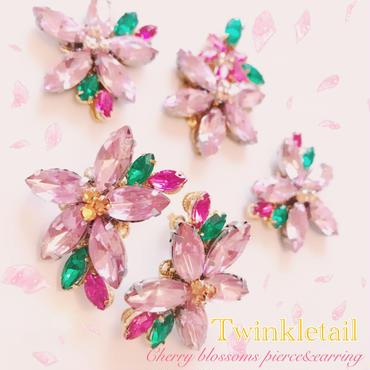 キャンセル分即納!Cherry blossoms pierce&earring♡はんなり桜ピアス&イヤリング♡
