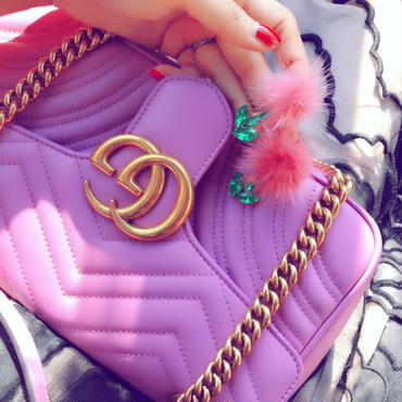mink fur flower pierces&earrings♡ミンクファーフラワーピアス♡