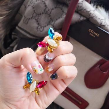 Candy Butterfly pierceAW♡キャンディーバタフライビジューピアス秋冬ver♡