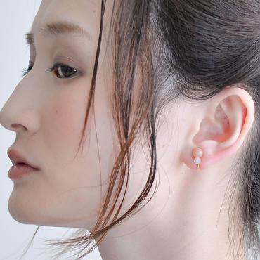 Grape Maru Earring  Pink×White グレープマルイヤリング ピンク×ホワイト