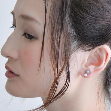 Grape Maru Earring  Gray×Blue グレープマルイヤリング グレー×ブルー