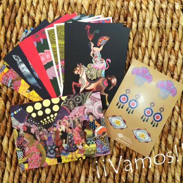 Vamos ポストカード 12枚セット(専用ケース&シール付き)