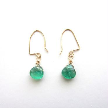 【UE070】 Emerald Marron Earring 14KGF(エメラルドマロンピアス)