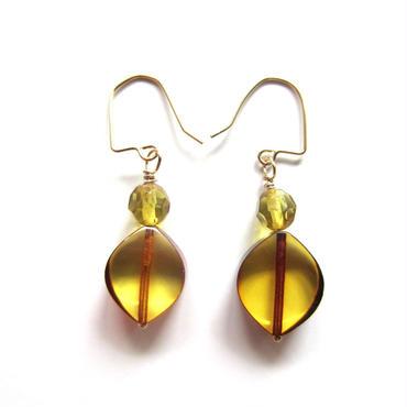 【UE048】 Baltic Amber Earring 14KGF(バルティックアンバー ピアス)